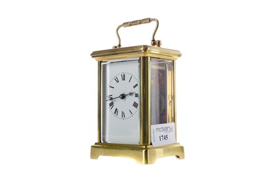 Lot 1745 - AN EARLY 20TH CENTURY CARRIAGE CLOCK