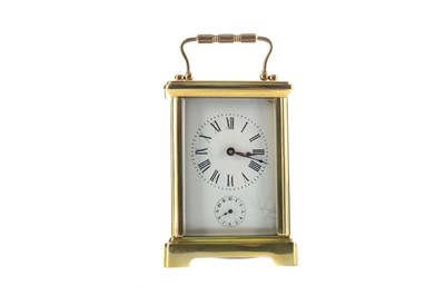 Lot 1748 - AN EARLY 20TH CENTURY CARRIAGE CLOCK