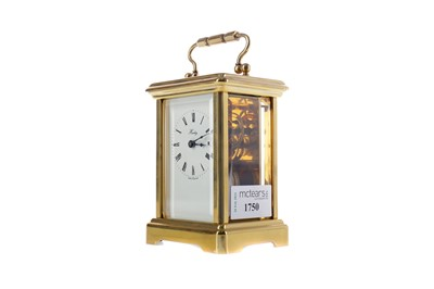Lot 1750 - AN EARLY 20TH CENTURY CARRIAGE CLOCK
