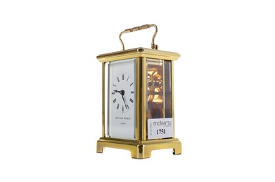 Lot 1751 - AN MID-20TH CENTURY CARRIAGE CLOCK