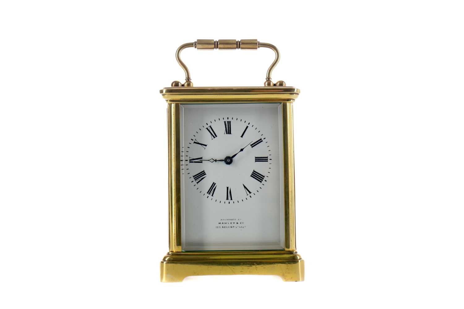 Lot 1753 - AN EARLY 20TH CENTURY CARRIAGE CLOCK