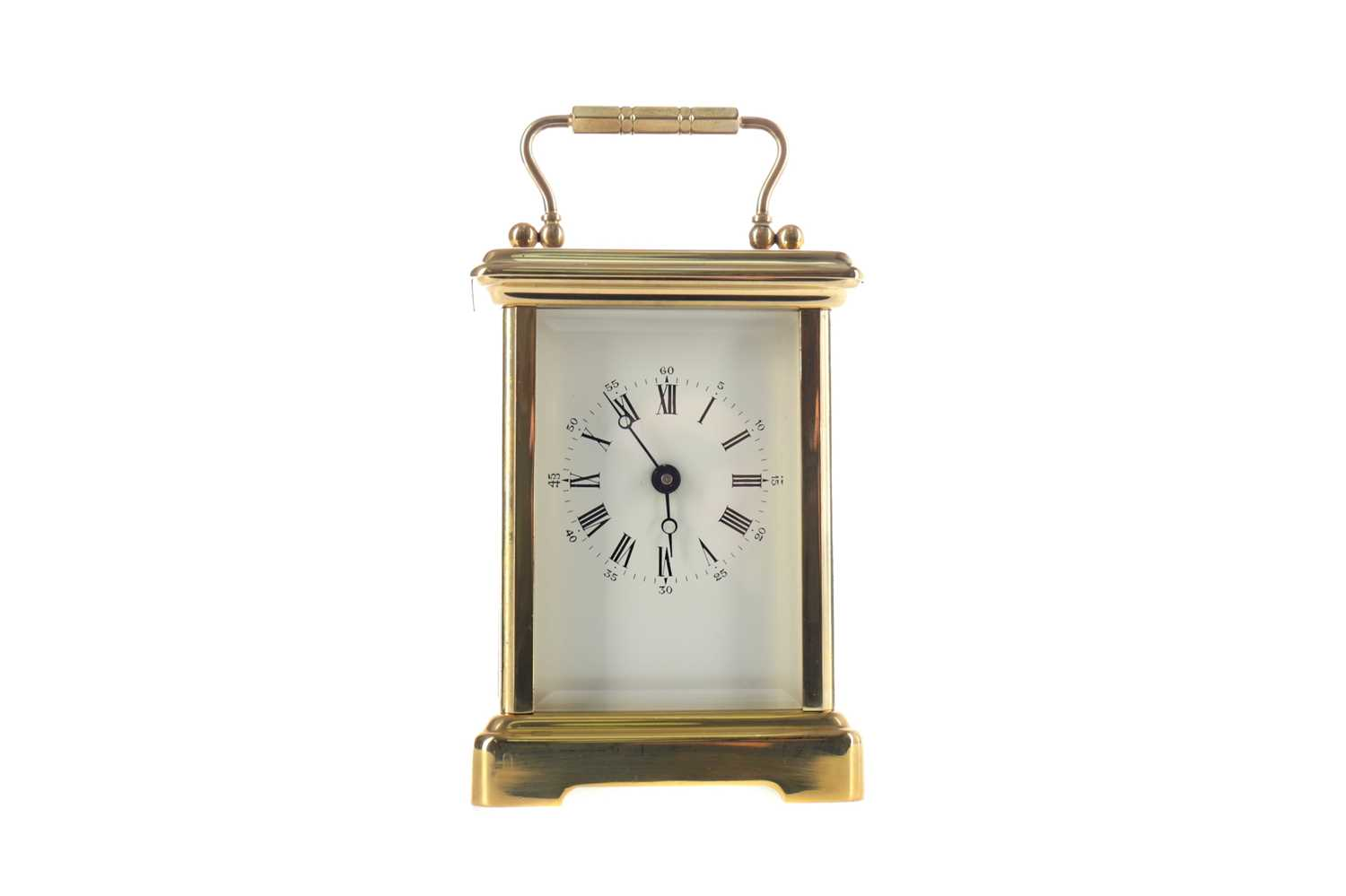 Lot 1757 - AN EARLY 20TH CENTURY CARRIAGE CLOCK