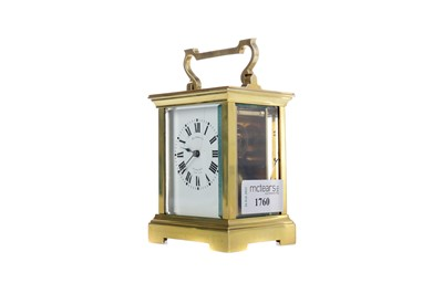Lot 1760 - AN EARLY 20TH CENTURY CARRIAGE CLOCK