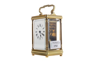 Lot 1761 - AN EARLY 20TH CENTURY CARRIAGE CLOCK