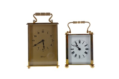 Lot 1764 - AN EARLY 20TH CENTURY CARRIAGE CLOCK AND ANOTHER
