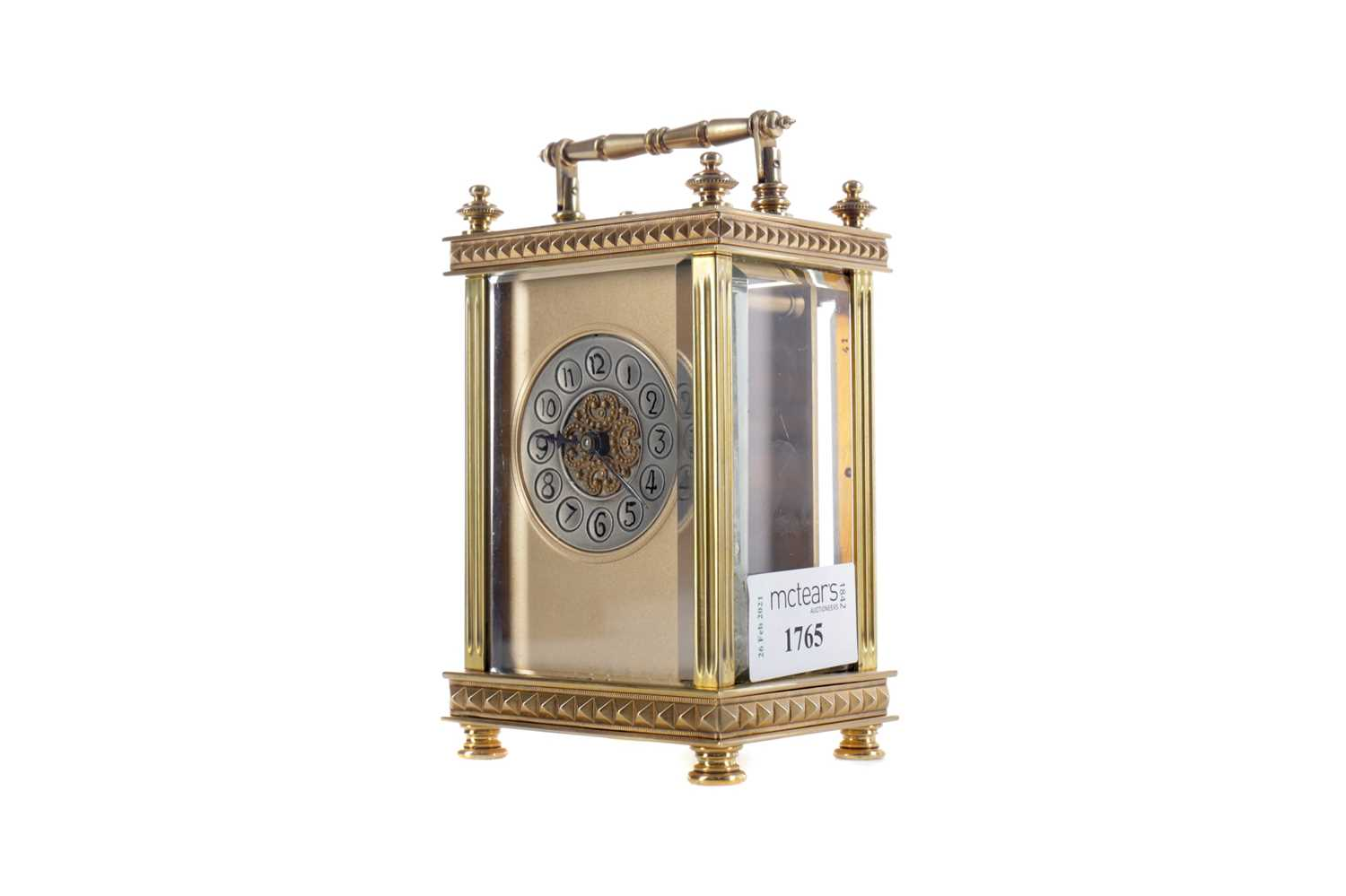 Lot 1765 - AN EARLY 20TH CENTURY CARRIAGE CLOCK
