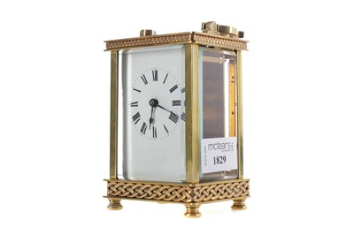 Lot 1829 - AN EARLY 20TH CENTURY CARRIAGE CLOCK
