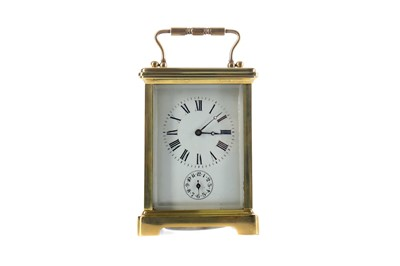 Lot 1831 - AN EARLY 20TH CENTURY CARRIAGE CLOCK
