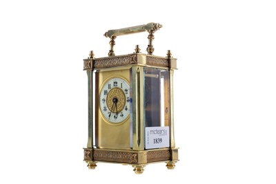 Lot 1839 - AN EARLY 20TH CENTURY CARRIAGE CLOCK