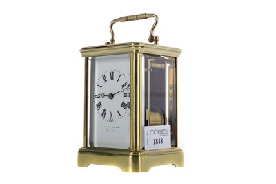 Lot 1848 - AN EARLY 20TH CENTURY CARRIAGE CLOCK