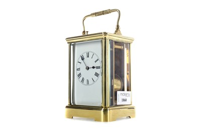 Lot 1860 - AN EARLY 20TH CENTURY REPEATER CARRIAGE CLOCK