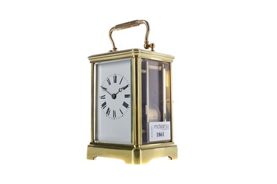 Lot 1861 - AN EARLY 20TH CENTURY REPEATER CARRIAGE CLOCK