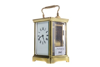 Lot 1862 - AN EARLY 20TH CENTURY REPEATER CARRIAGE CLOCK