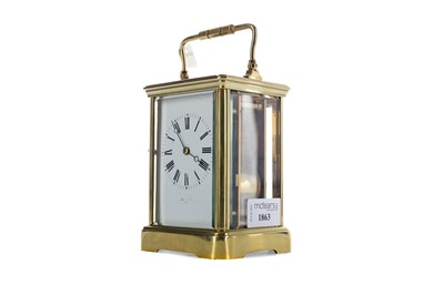 Lot 1863 - AN EARLY 20TH CENTURY REPEATER CARRIAGE CLOCK