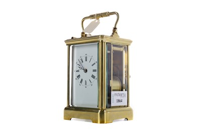 Lot 1864 - AN EARLY 20TH CENTURY REPEATER CARRIAGE CLOCK