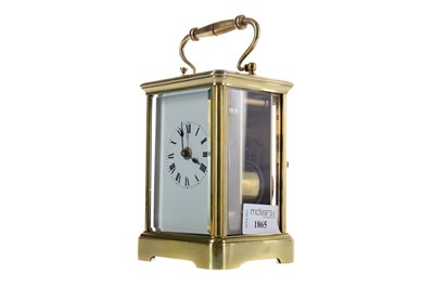 Lot 1865 - AN EARLY 20TH CENTURY REPEATER CARRIAGE CLOCK