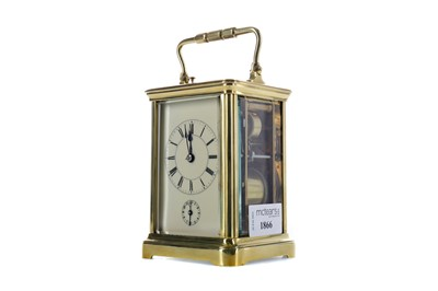 Lot 1866 - AN EARLY 20TH CENTURY REPEATER CARRIAGE CLOCK