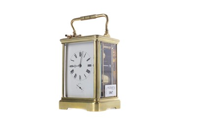 Lot 1867 - AN EARLY 20TH CENTURY REPEATER CARRIAGE CLOCK