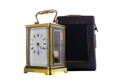 Lot 1869 - AN EARLY 20TH CENTURY CARRIAGE CLOCK