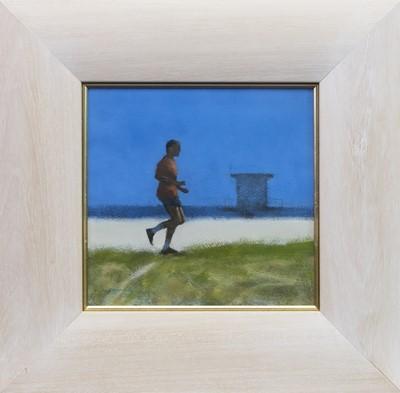 Lot 523 - RUNNER, VENICE BEACH, AN ACRYLIC BY PETER NARDINI
