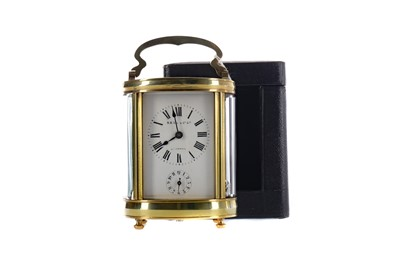 Lot 1871 - AN EARLY 20TH CENTURY CARRIAGE CLOCK