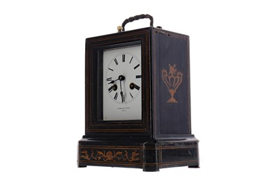 Lot 1873 - A LATE VICTORIAN INLAID CARRIAGE CLOCK