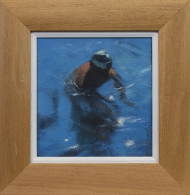 Lot 558 - POOL SWIMMER I, AN ACRYLIC BY PETER NARDINI