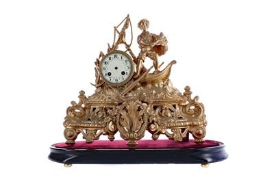 Lot 1882 - A LATE 19TH CENTURY FIGURAL MANTEL CLOCK