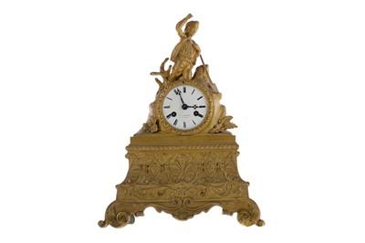 Lot 1885 - A LATE VICTORIAN FIGURAL MANTEL CLOCK