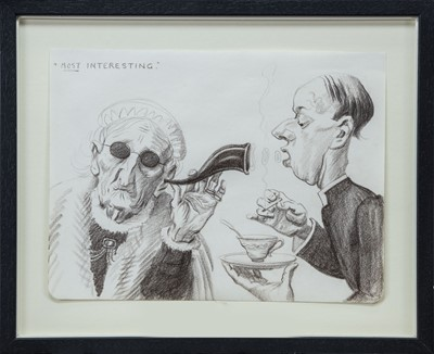 Lot 31 - MOST INTERESTING, A PENCIL BY JOHN BULLOCH SOUTER