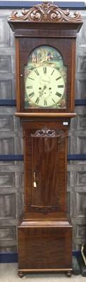 Lot 1886 - A LATE VICTORIAN MAHOGANY LONGCASE CLOCK