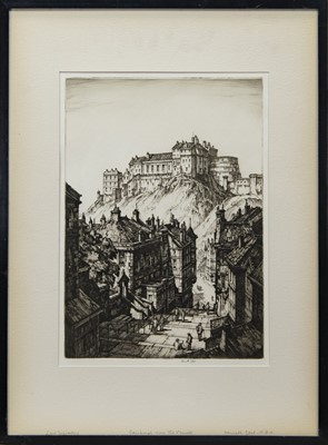 Lot 32 - EDINBURGH FROM THE VENELL, AN ETCHING BY KENNETH STEEL