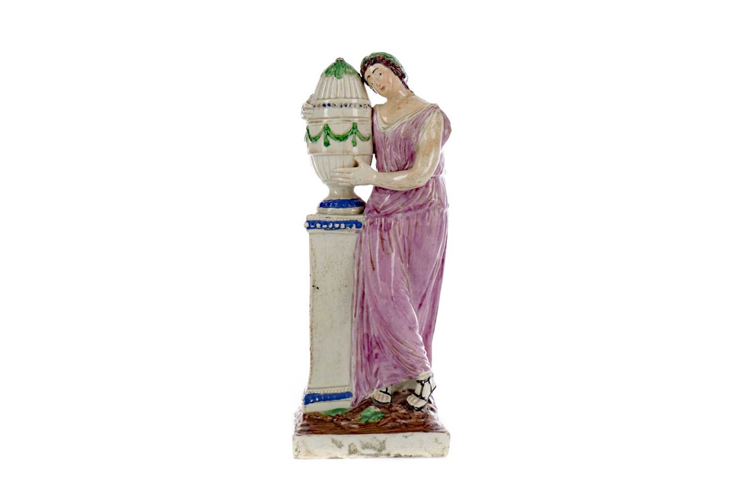 Lot 22 - AN EARLY 19TH CENTURY STAFFORDSHIRE CREAMWARE FIGURE OF ANDROMACHE