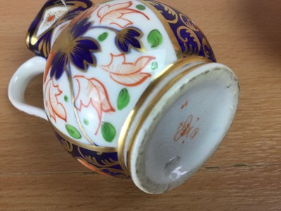 Lot 67 - THREE EARLY 19TH CENTURY ENGLISH PORCELAIN MINIATURE WASH BOWLS AND EWERS