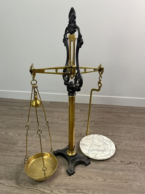 Lot 1631 - A SET OF LATE VICTORIAN BEAM SCALES BY W.T. AVERY