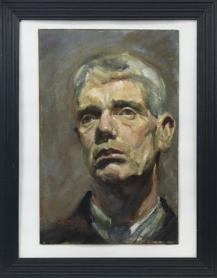 Lot 65 - PORTRAIT OF JOHN HAY, AN OIL BY HARRY ALLSOP