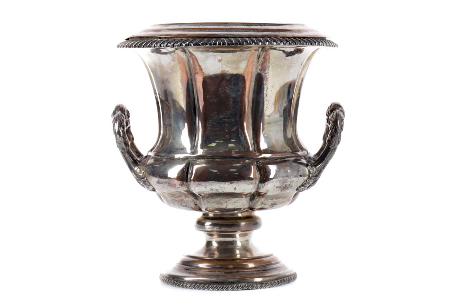 Lot 77 - A MID-19TH CENTURY OLD SHEFFIELD PLATE WINE COOLER