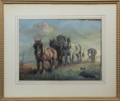 Lot 2 - IN THE FIELDS, A PASTEL BY MAUDE MARSHALL