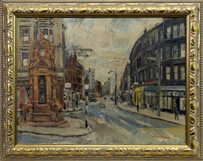 Lot 563 - CHARING CROSS, GLASGOW, AN OIL BY ANTHONY ARMSTRONG