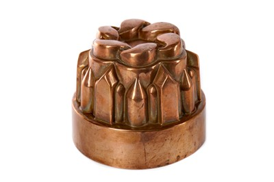 Lot 78 - A LATE VICTORIAN COPPER JELLY MOULD