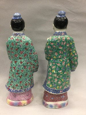 Lot 720 - A LOT OF TWO EARLY 20TH CENTURY CHINESE POLYCHROME FIGURES
