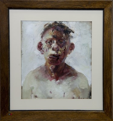 Lot 522 - THE BOXER, AN OIL BY PAUL MCPHAIL