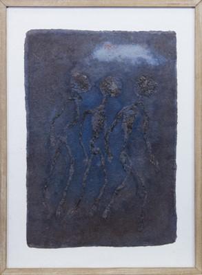 Lot 519 - RUNNING, A MIXED MEDIA BY JOHN TAYLOR