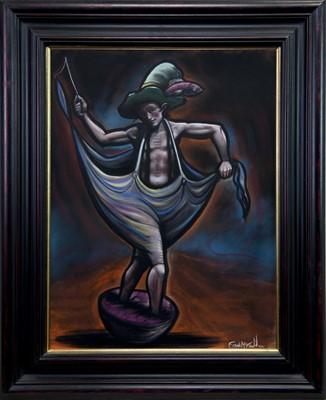 Lot 554 - WEATHER MAN, A PASTEL BY FRANK MCFADDEN