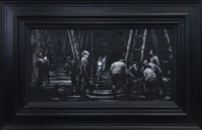 Lot 525 - BENEATH THE TITANIC, AN OIL BY RYAN MUTTER
