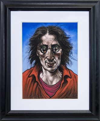 Lot 557 - IMAGINE, A PASTEL BY PETER HOWSON