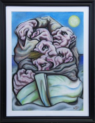 Lot 594 - HOPE OVER FEAR, A PASTEL BY KEVIN O'ROURKE