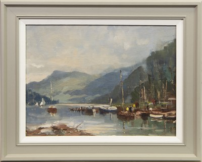 Lot 611 - KENMORE, LOCH TAY, AN OIL BY WILLIAM DAVIES
