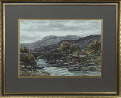Lot 11 - RIVER WHITEADDER, ELLEMFORD BRIDGE, A WATERCOLOUR BY JOHN HAMILTON GLASS