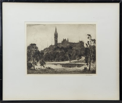 Lot 65 - UNIVERSITY OF GLASGOW, AN ETCHING BY ALBERT HENRY FULLWOOD